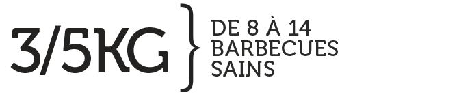 3/5 KG DE 8 À 14 BARBECUES SAINS